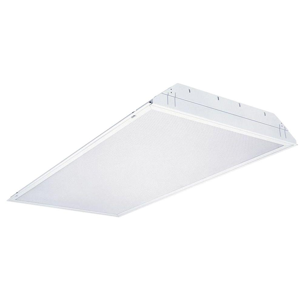Lithonia Lighting 2GT8 4 32 A12 MVOLT 1/4 MVISPWS1836LP741 4-Light White Fluorescent Troffer