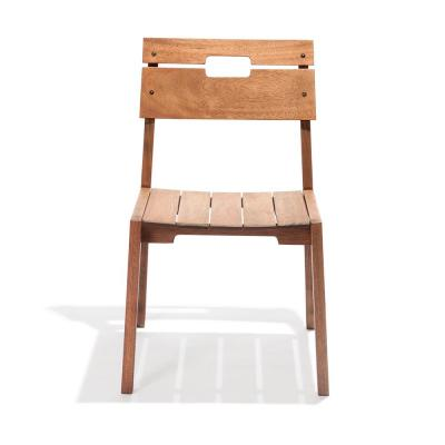 Otero Brown Wood Outdoor Lounge Chair