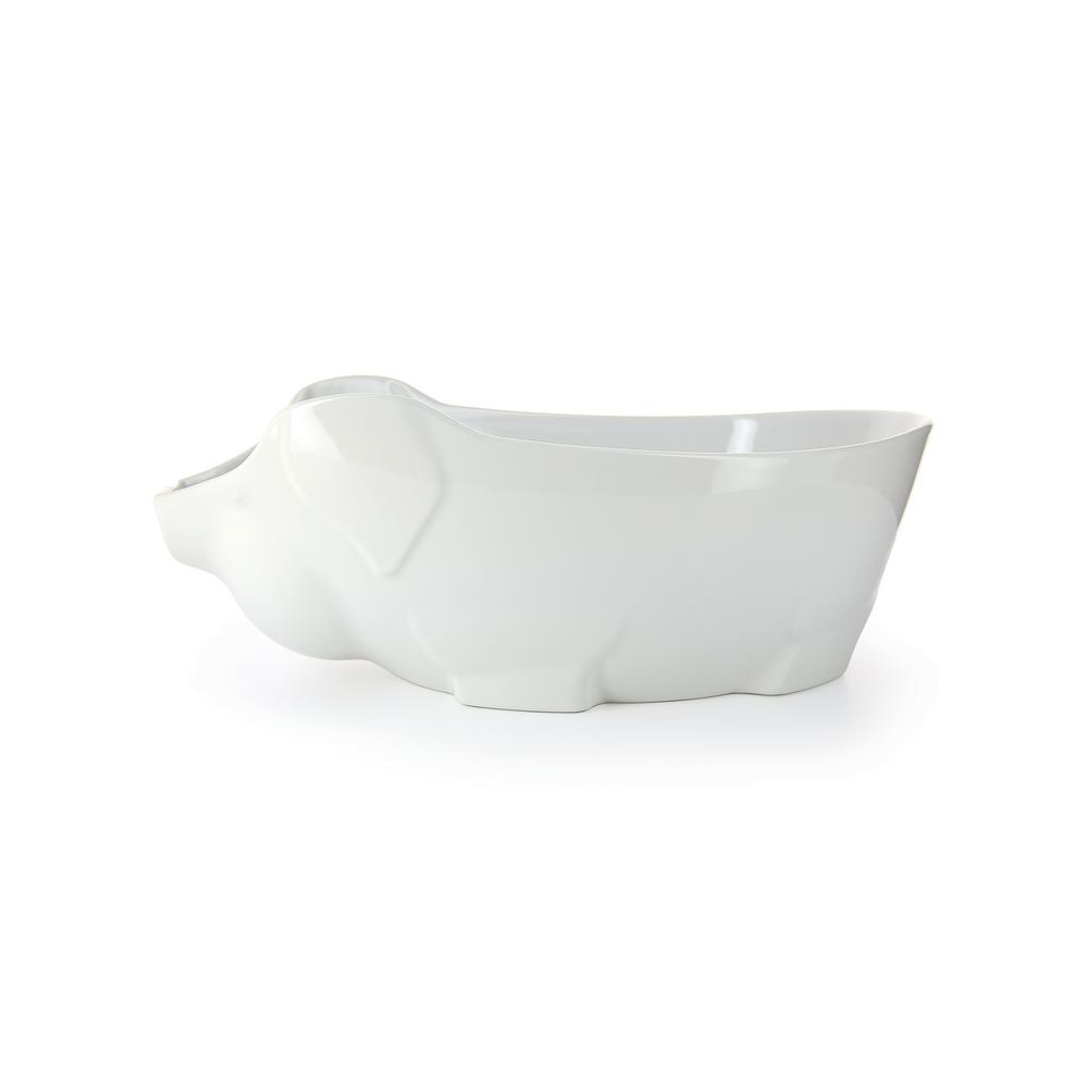 Revol French Classique 13.5 in. Porcelain Pig Dish in White