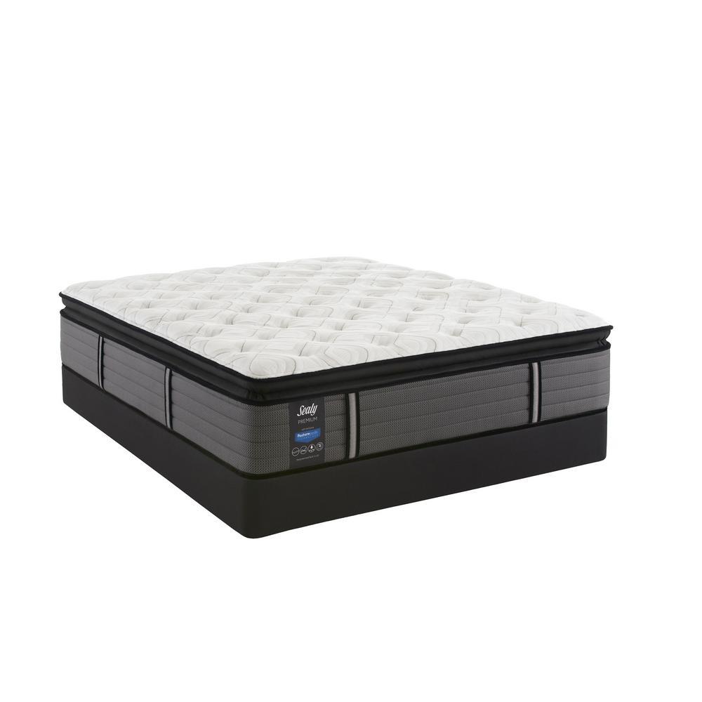 Response Premium 14 in. King Plush Euro Pillowtop Mattress Set with 9 in. High Profile Foundation