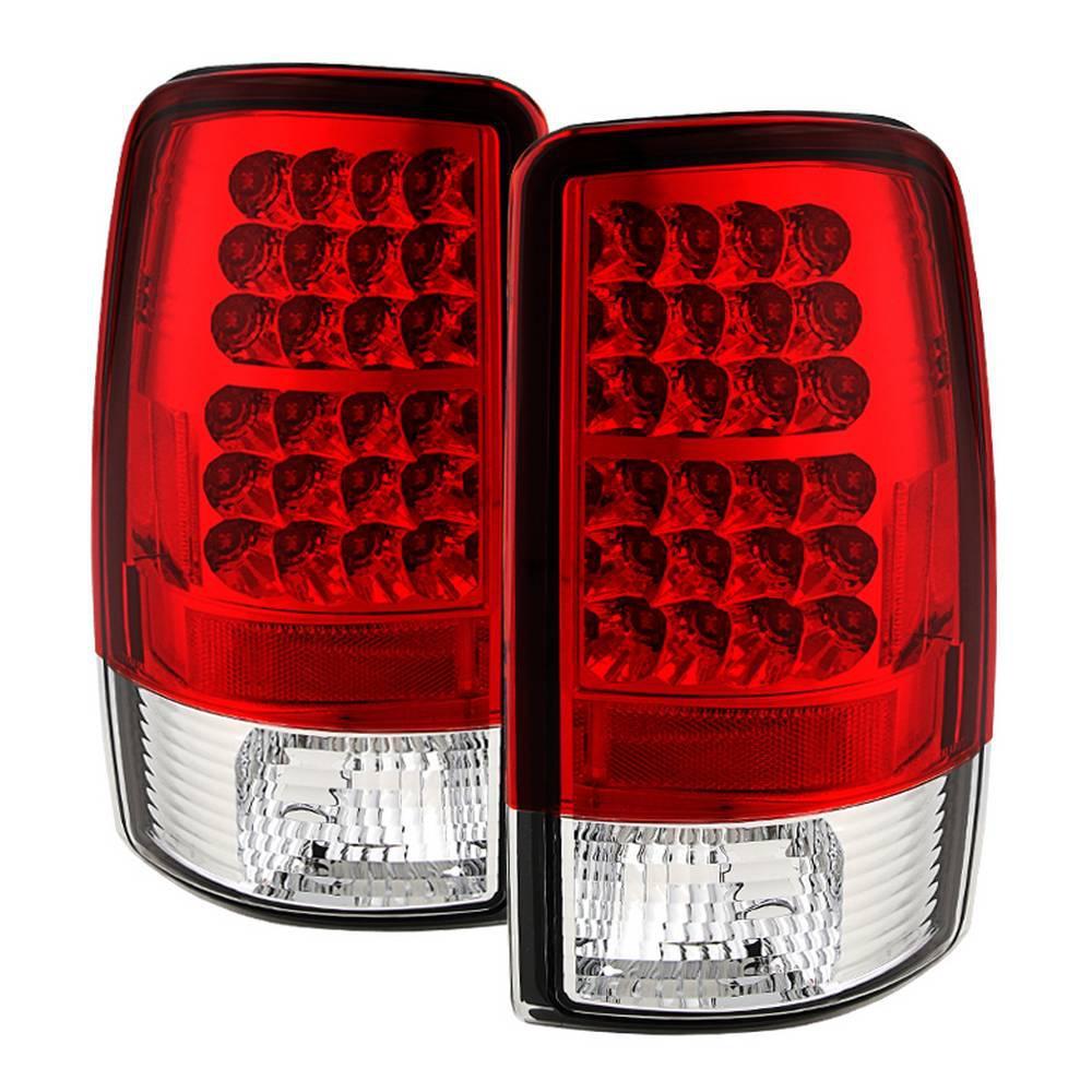 Chevy Suburban Tahoe 1500 2500 00 06 Gmc Yukon Xl Led Tail Lights Red Clear