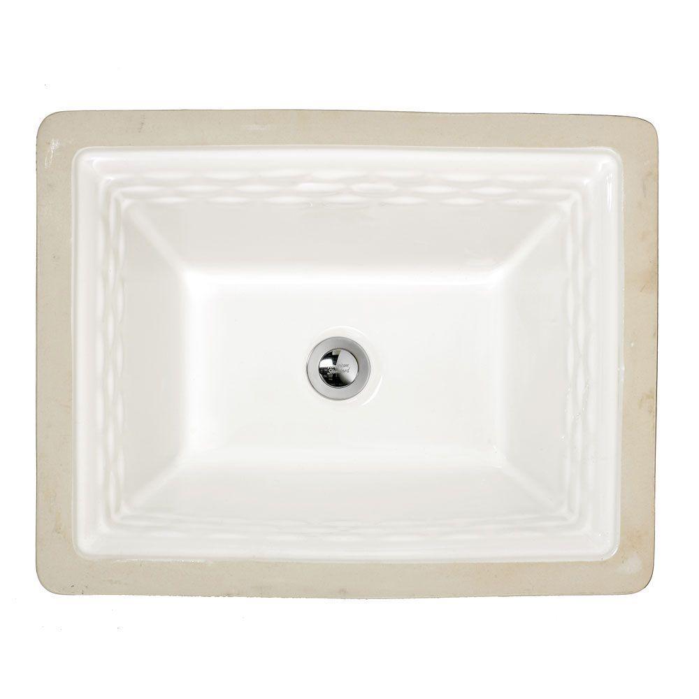 2691004 020 In White By American Standard: American Standard Portsmouth Undermount Bathroom Sink In