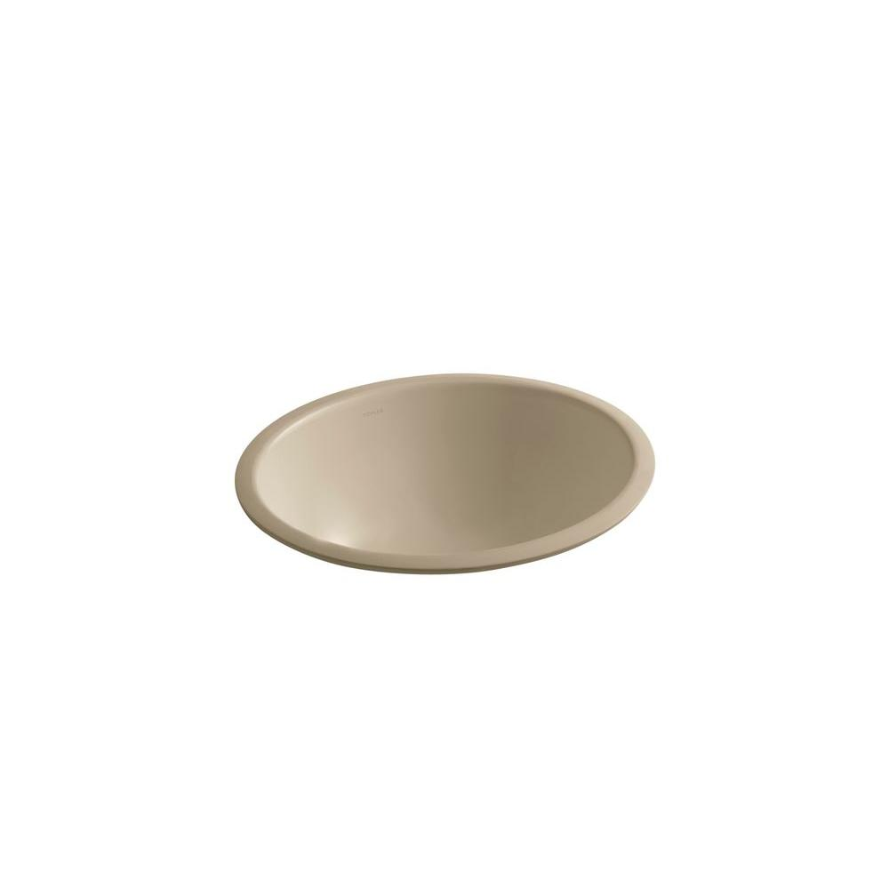 KOHLER Caxton Under-mount Bathroom Sink in Mexican Sand-DISCONTINUED
