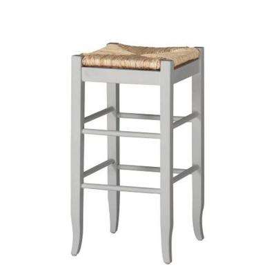 29 in. White Bar Stool
