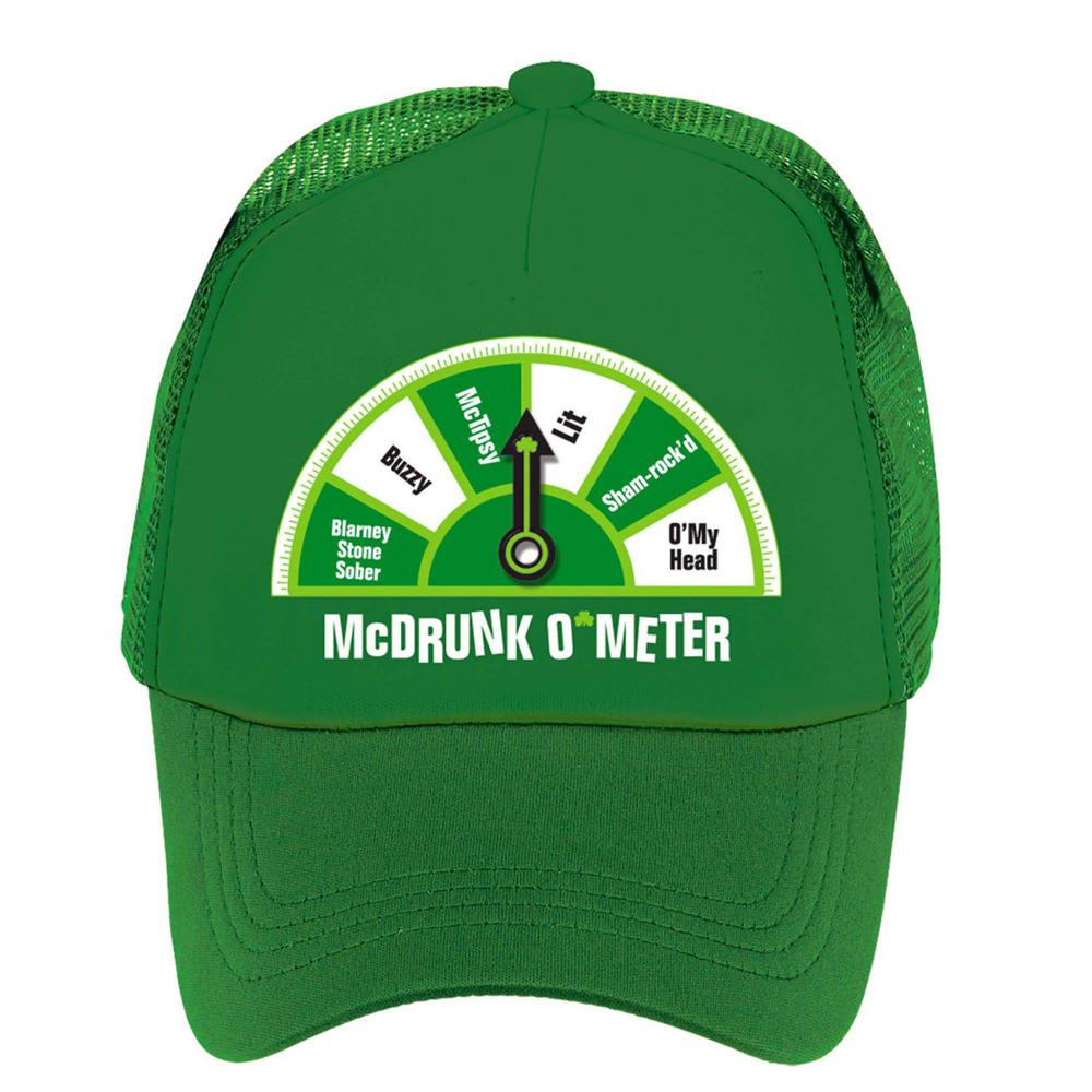 Amscan Green McDrunk O Meter St. Patrick s Day Trucker Hat (2-Pack ... 34ff0a508732