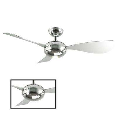 Stargazer 52 in. LED Indoor/Outdoor Liquid Nickel 3-Blade Smart Ceiling Fan with 3000K Light Kit and Wall Control