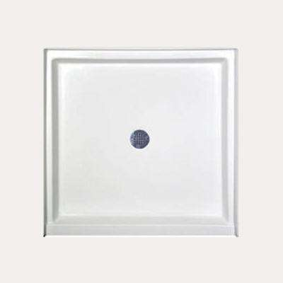 42 in. x 34 in. Single Threshold Shower Base in White