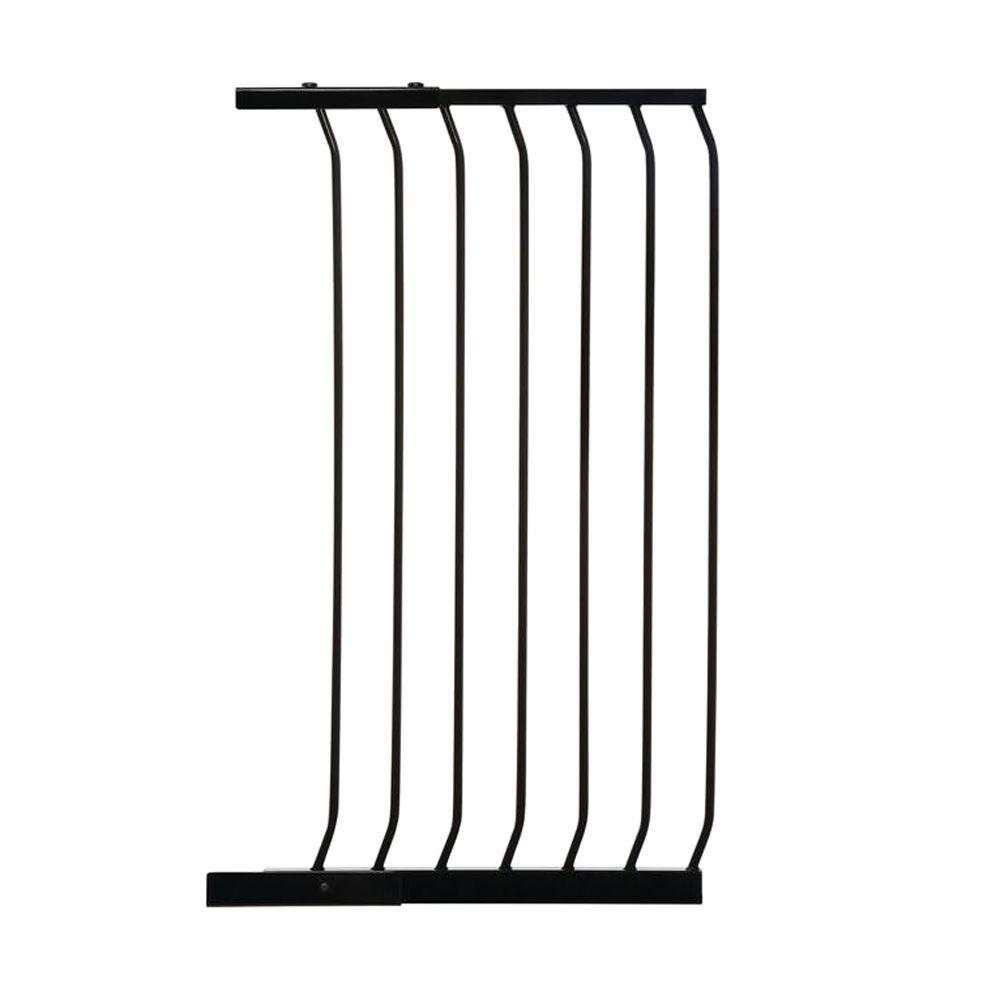 Dreambaby 21 in. Gate Extension for Black Chelsea Extra Tall Child Safety Gate