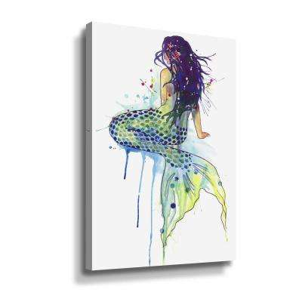 'Mermaid' by  Sam nagel Canvas Wall Art