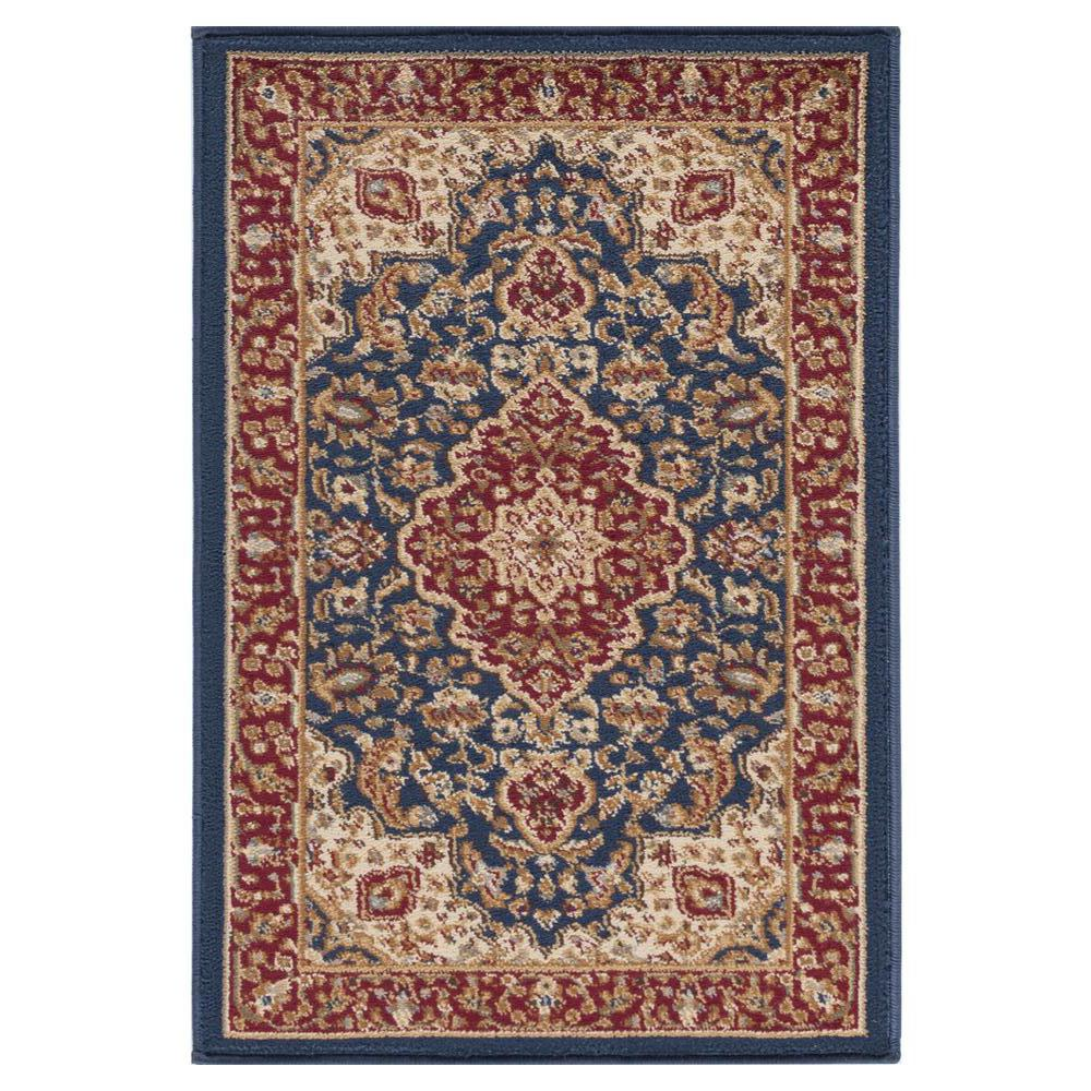 Tayse Rugs Sensation Navy Blue 2 Ft X 3 Ft Traditional