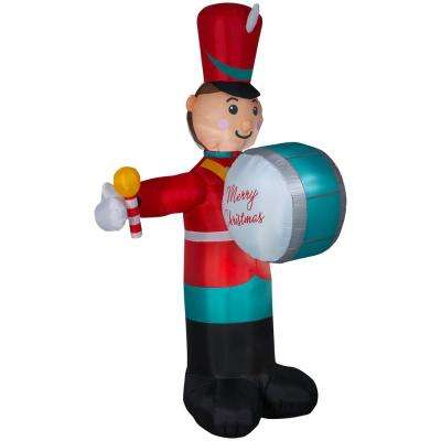 8 ft. Pre-lit Inflatable Animated Drumming Soldier