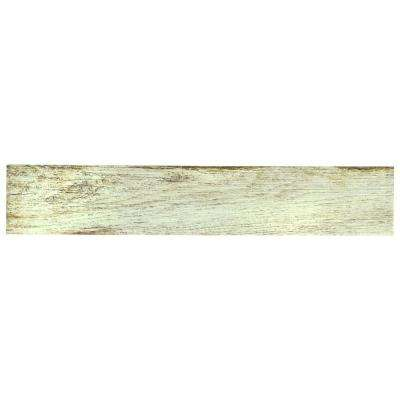Bora White 3-1/8 in. x 17-1/2 in. Porcelain Floor and Wall Tile (12.48 sq. ft. / case)