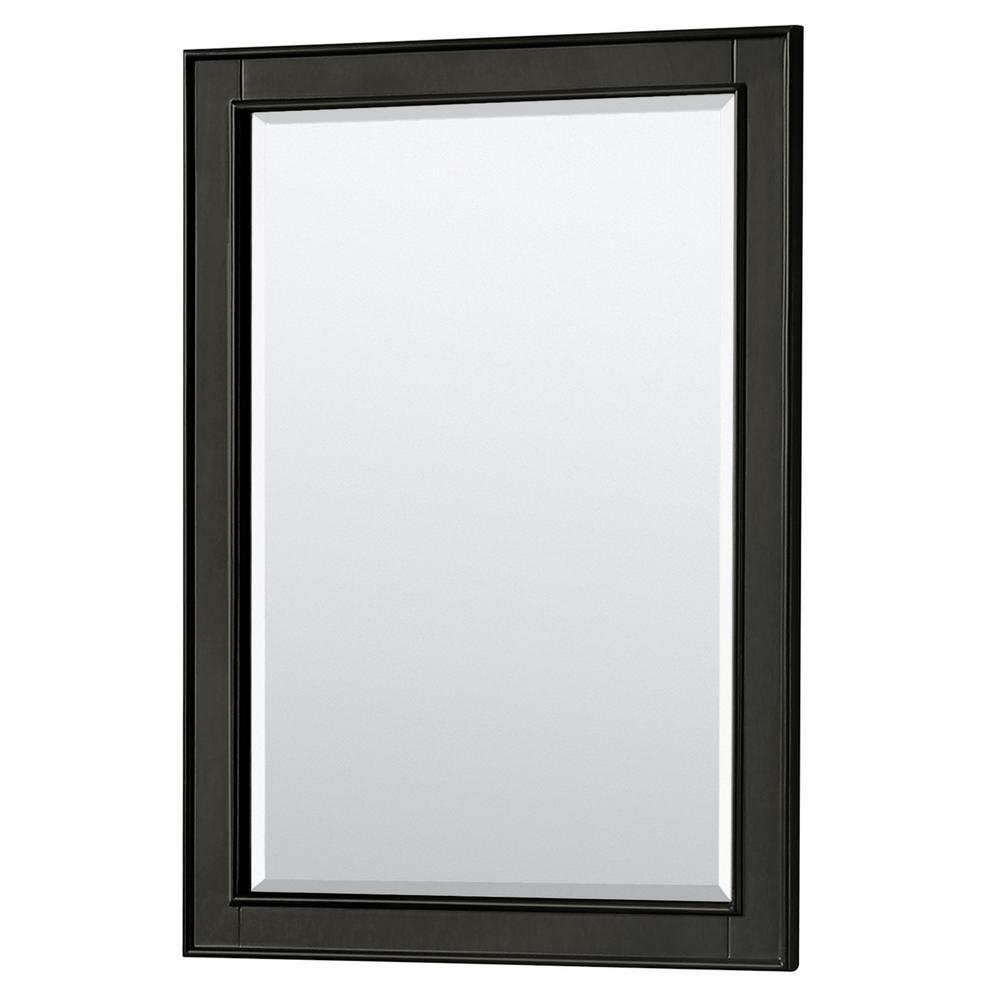 Deborah 24 in. W x 33 in. H Framed Wall Mirror in Dark Espresso