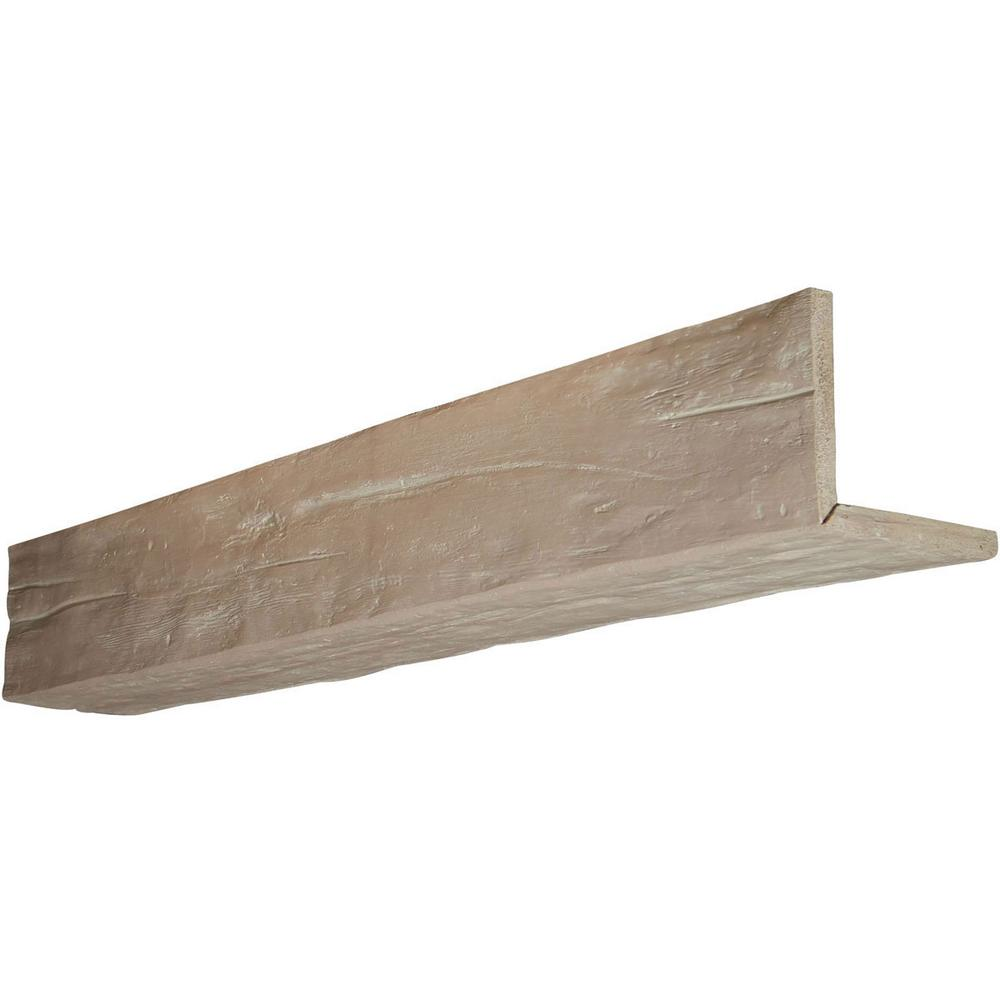 Ekena Millwork 6 in. x 12 in. x 8 ft. 2-Sided (L-Beam) Ri...