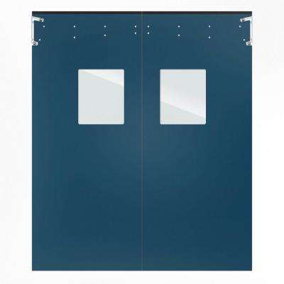 Optima 1/4 in. x 60 in. x 84 in. Single-Ply Blue Impact Door