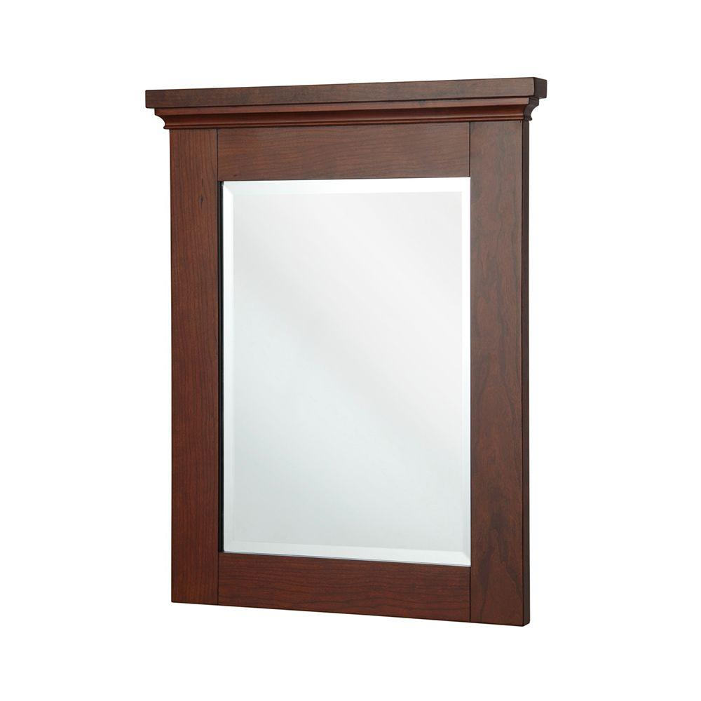 Home Decorators Collection Manchester 32 in. L x 29 in. W Wall Mirror in Mahogany