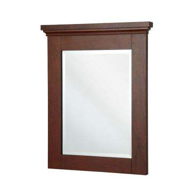 Manchester 32 in. L x 29 in. W Wall Mirror in Mahogany