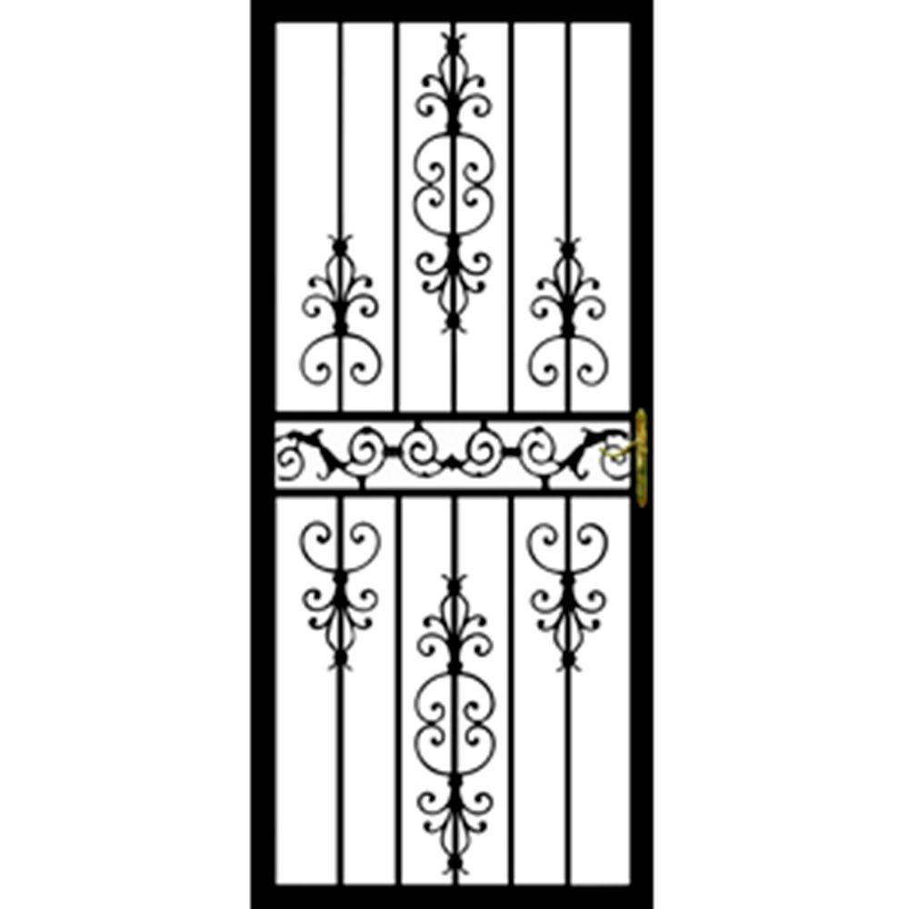 Grisham 36 In X 80 109 Series Black Hinge Left Diplomat Security Door