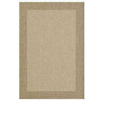 Brown Indoor/Outdoor Woven Rug