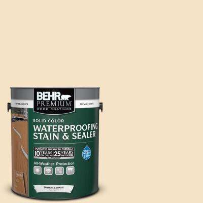 1 gal. #PPU6-10 Cream Puff Solid Color Waterproofing Exterior Wood Stain and Sealer