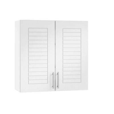 Assembled 24x30x12 in. Key West Open Back Outdoor Kitchen Wall Cabinet with 2 Doors in Radiant White