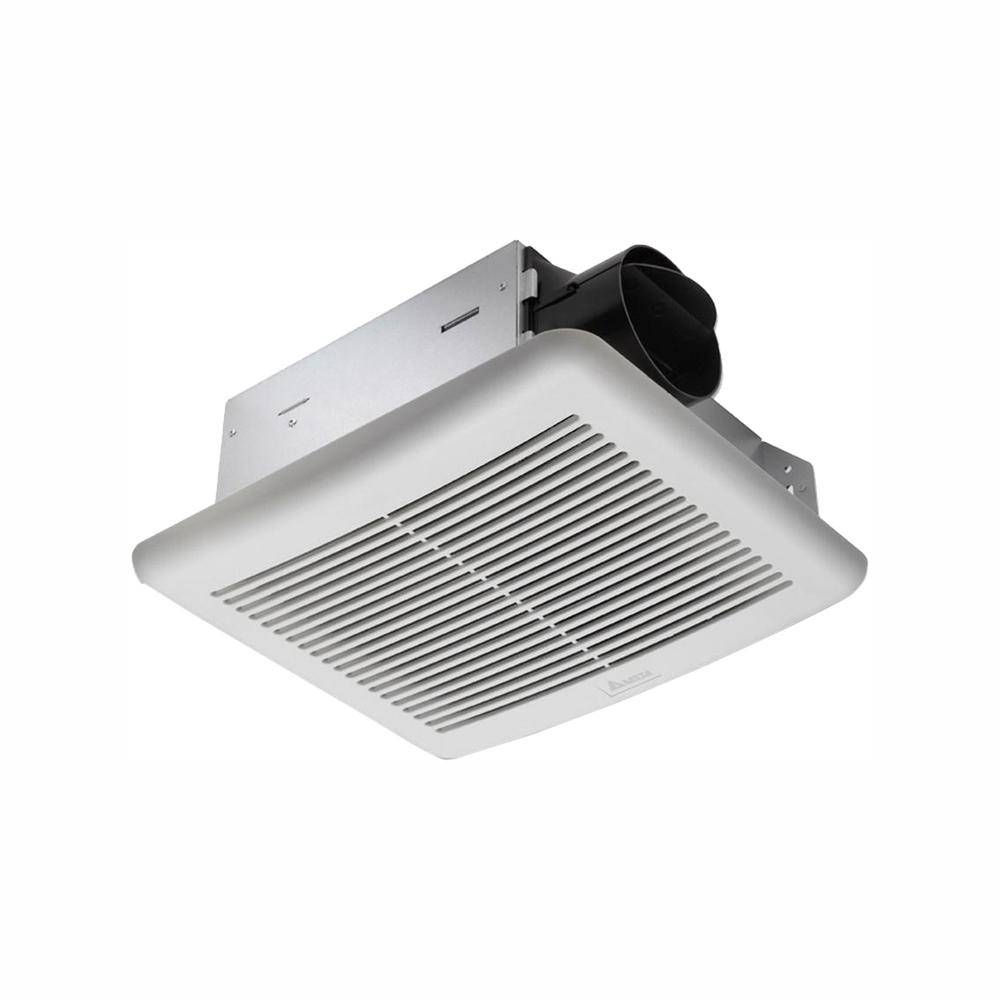 Delta Breez Slim Series 70 CFM Wall or Ceiling Bathroom Exhaust Fan with Humidity Sensor, ENERGY STAR