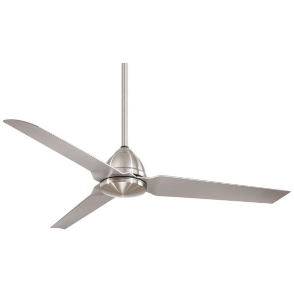 Java 54 in. Indoor/Outdoor Brushed Nickel Wet Ceiling Fan with Remote Control