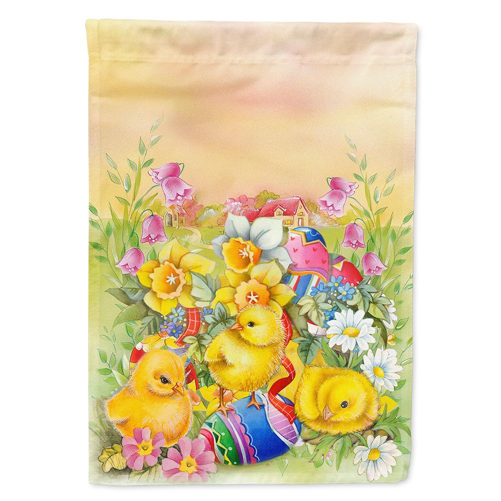 11 in. x 15-1/2 in. Polyester Easter Chicks and Eggs 2-Sided