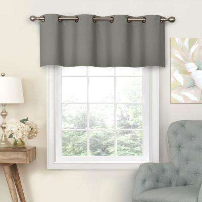 Nadya 18 in. L Poly/Cotton Valance Smoke