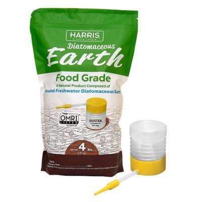 64 oz.(4 lb.) Diatomaceous Earth Food Grade 100% with Powder Duster Applicator