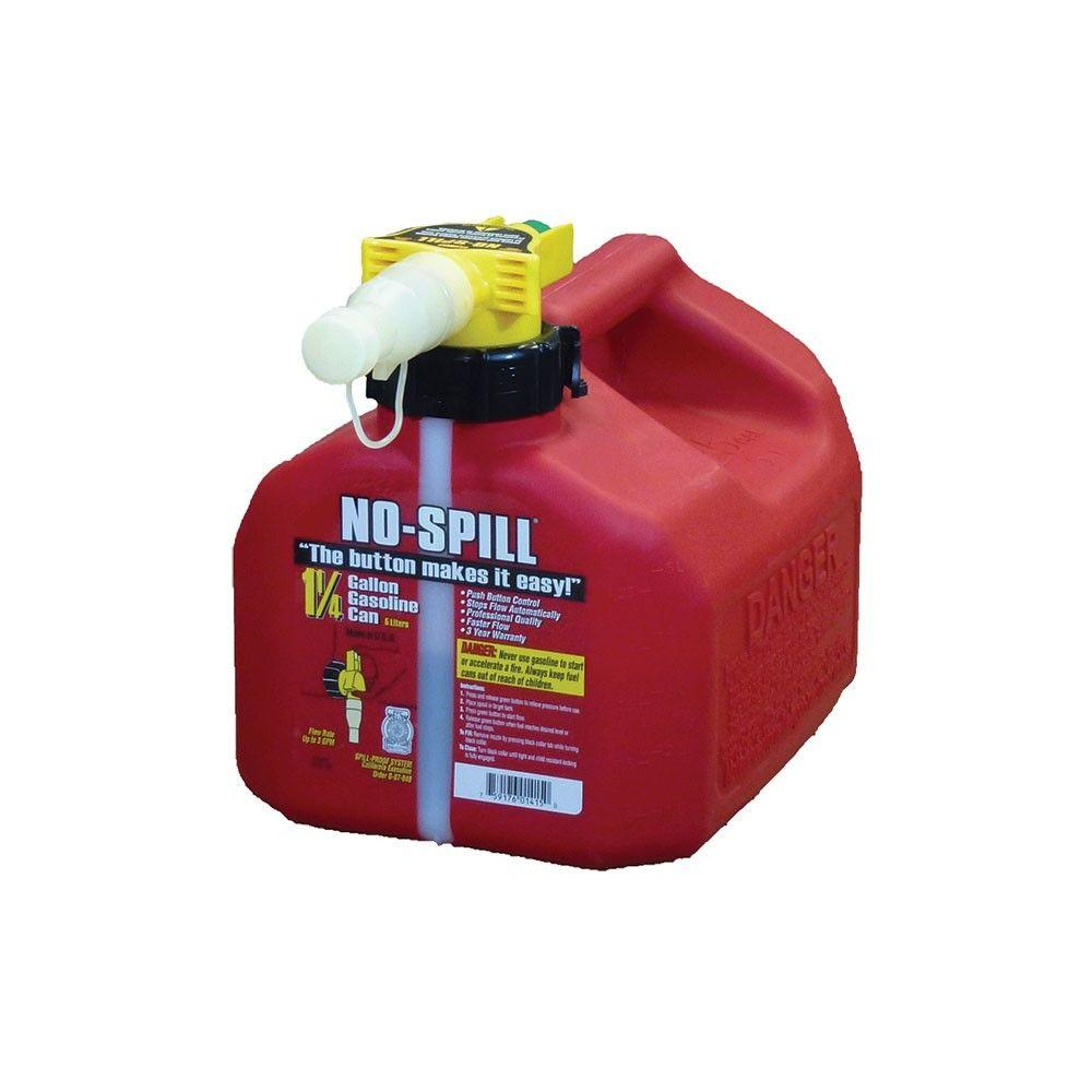 No Spill No Spill 1 25 Gal Poly Gas Can 1415 V6 The