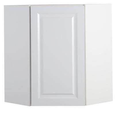 Benton Assembled 23.6x30x23.6 in. Corner Wall Cabinet in White
