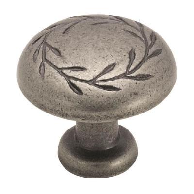 Nature's Splendor 1-5/16 in. (33 mm) Dia Weathered Nickel Cabinet Knob