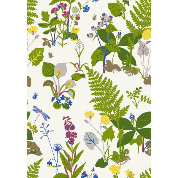 8 in. x 10 in. Trollslnda Green Botanical Wallpaper Sample WV1788SAM