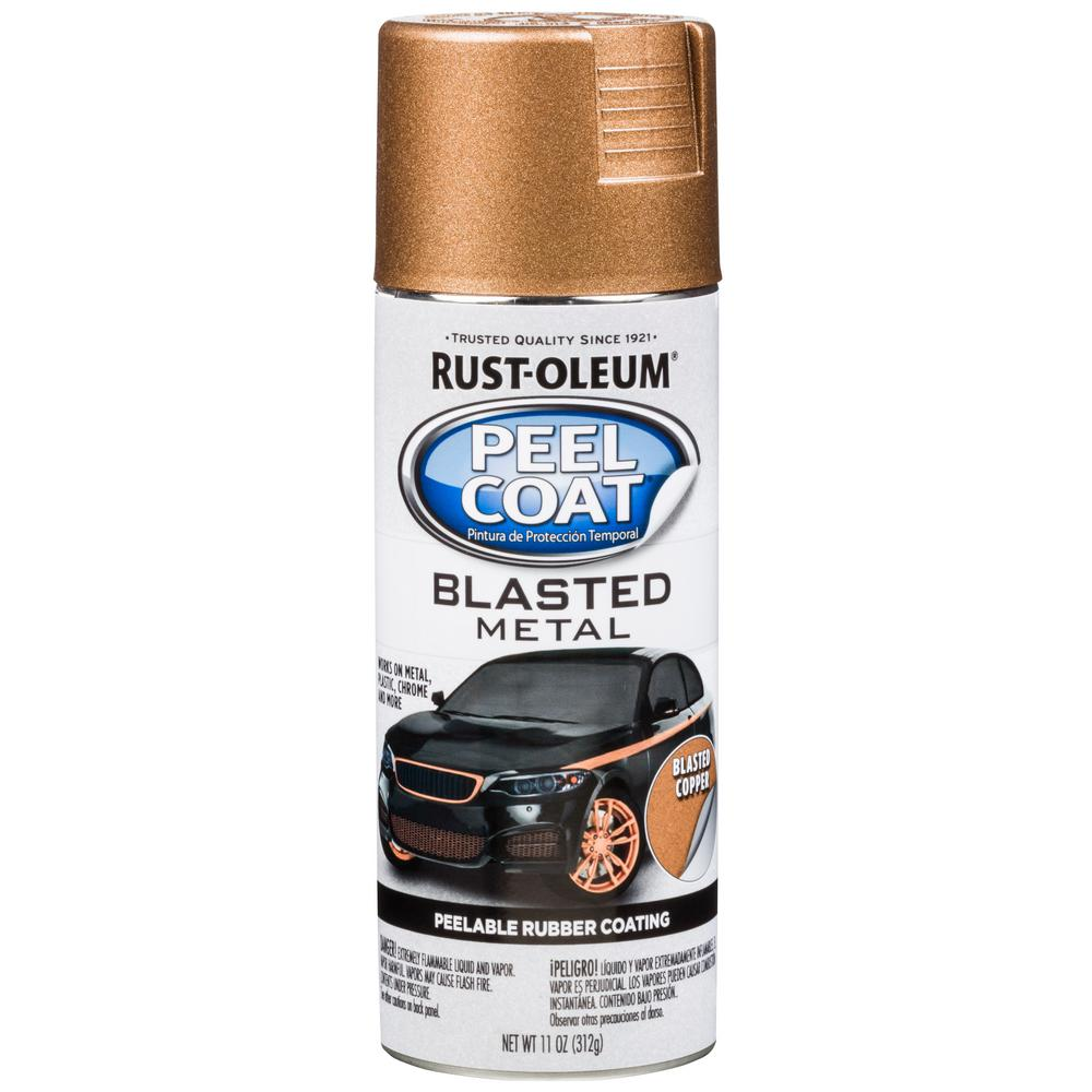 11 oz. Peel Coat Blasted Metal Copper Spray Paint (Case of