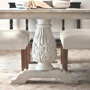 60664cb2d025 Home Decorators Collection Kingsley Sandblasted White Dining Table ...