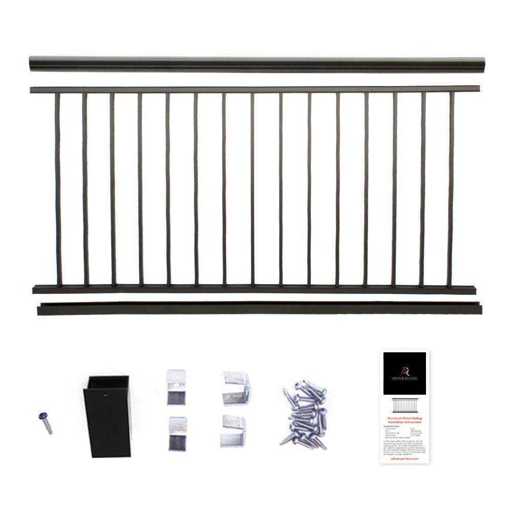 Powder Coated Aluminum Preassembled Deck Railing 36 in. x 8 ft.