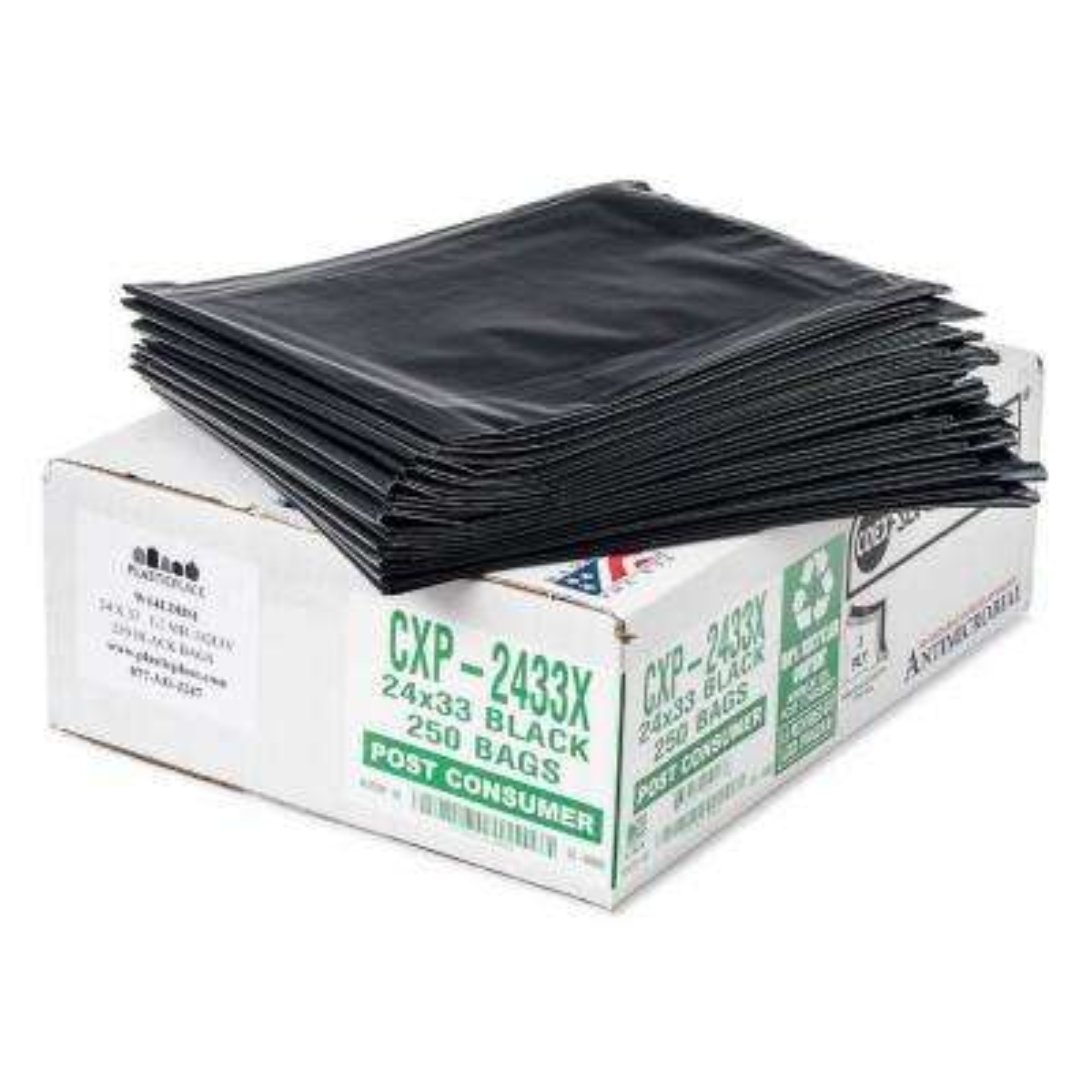 42 Gal. Black Eco-Friendly Trash Bags (Case of 100)