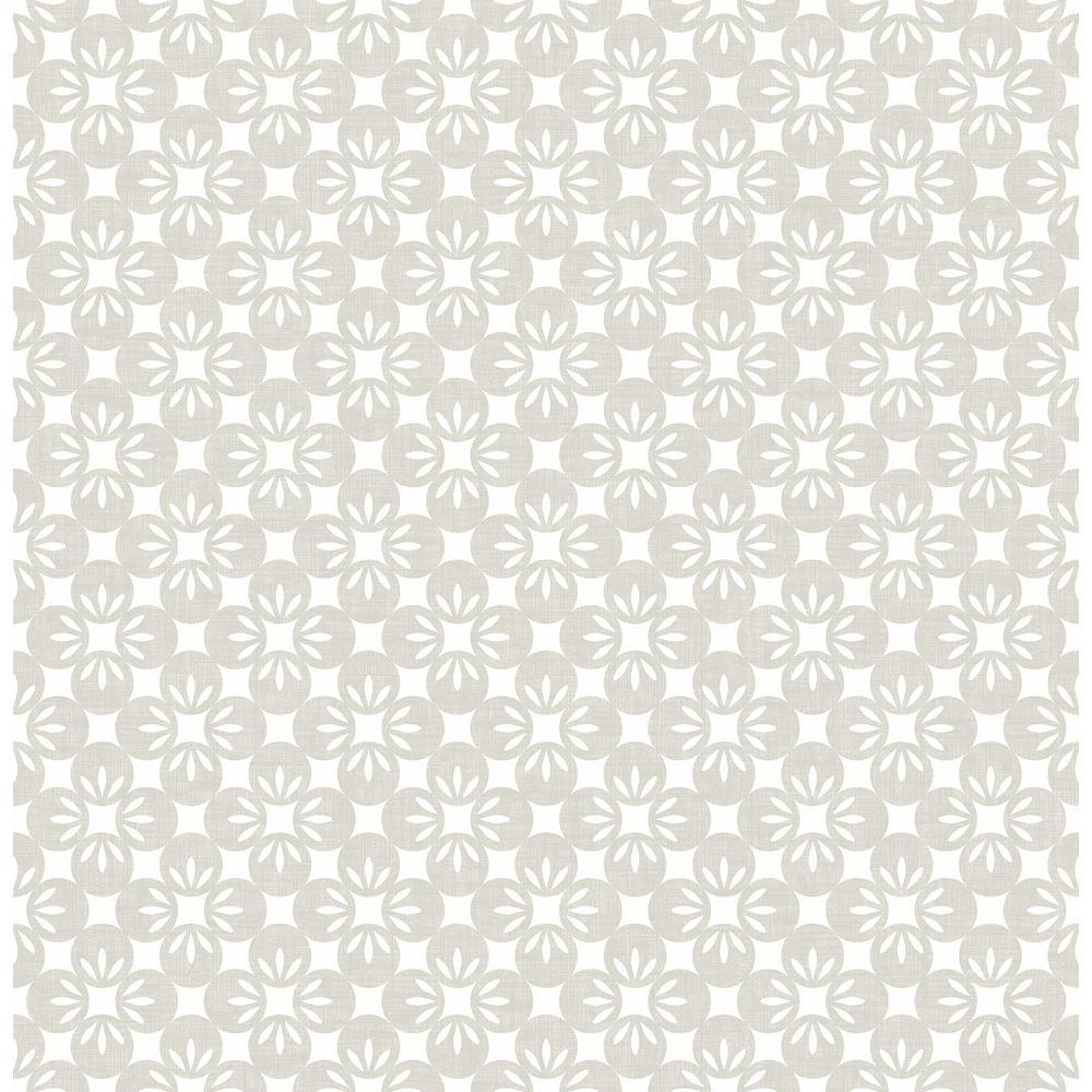 Orbit Neutral Floral Wallpaper