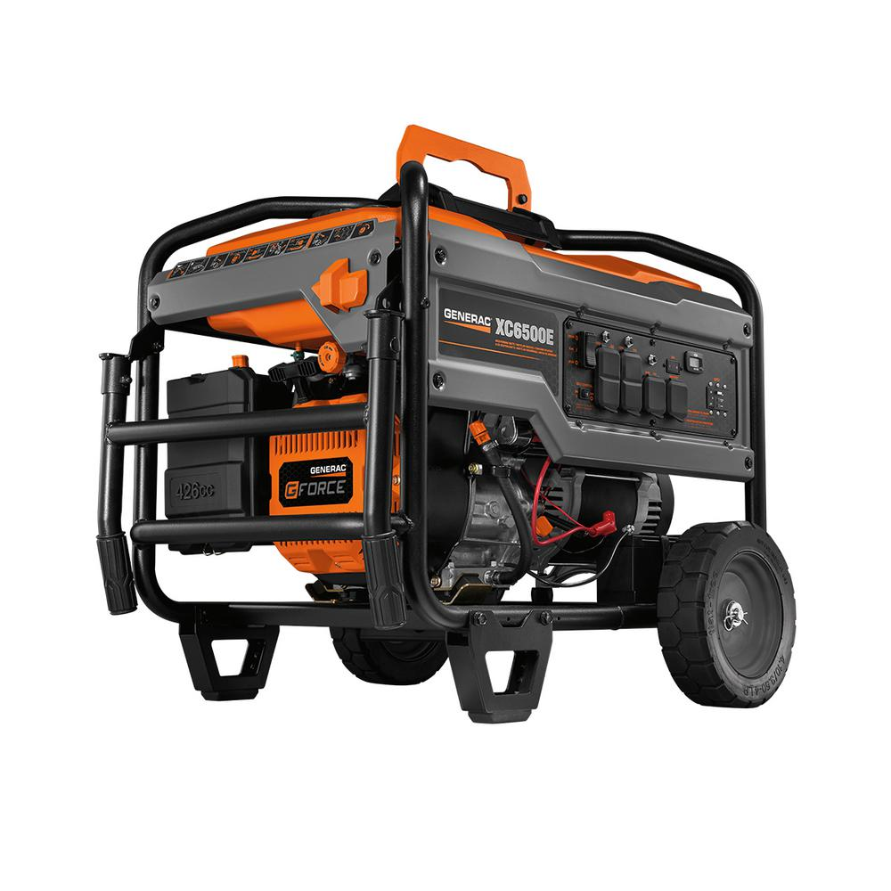 XC 6500-Watt Electric Start Gasoline Powered Portable Generator ...