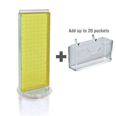 21 in. H x 8 in. W Counter Pegboard Gift Card Holder, Yellow