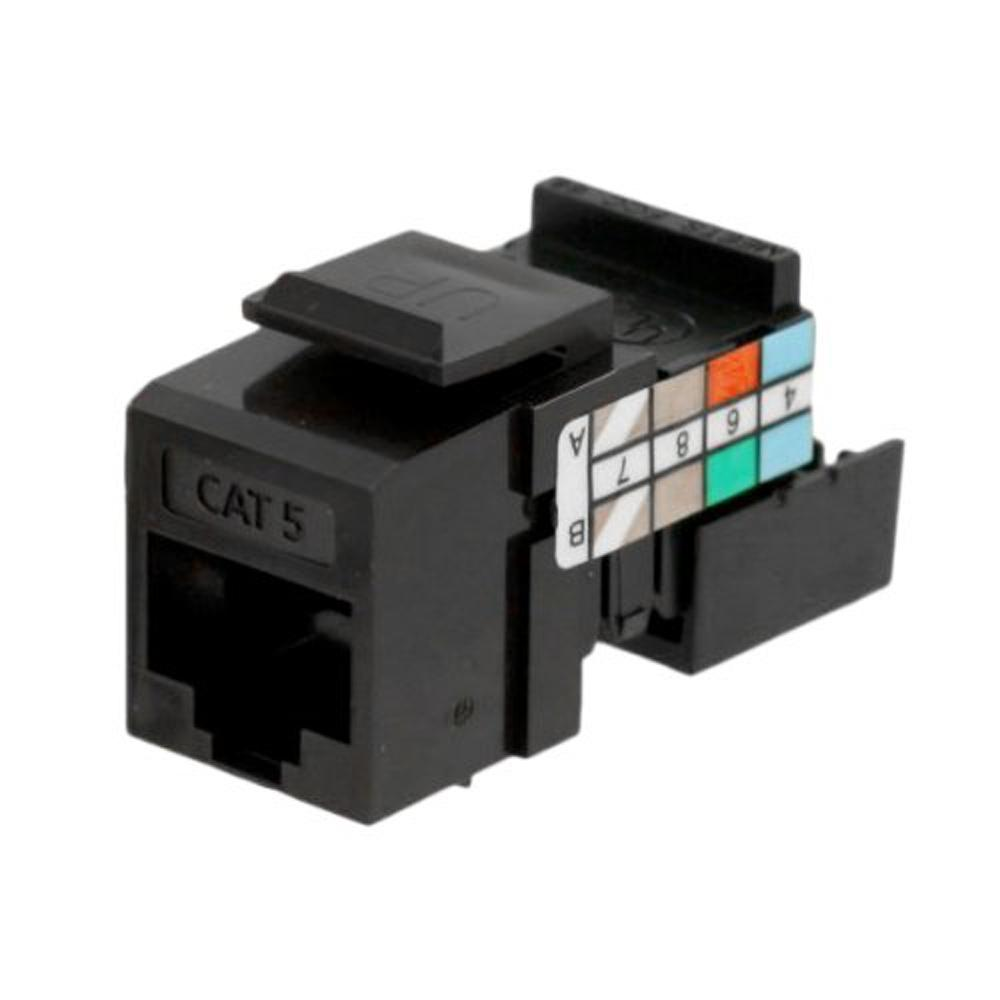 Leviton Cat 5 Wiring Diagram Reinvent Your Cat5e Jack Quickport Connector Brown 41108 Rb5 The Home Depot Rh Homedepot Com 6 Extreme 5e