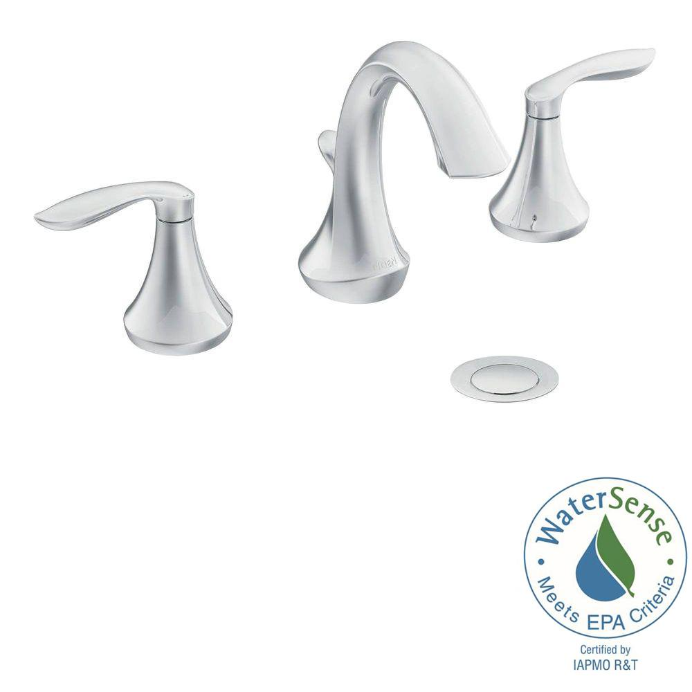 Moen Eva 8 In Widespread 2 Handle High Arc Bathroom