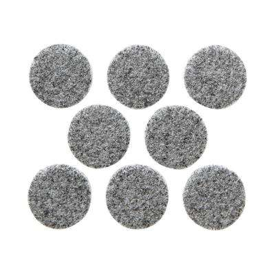 1 in. Gray Round Heavy-Duty Surface Protection Felt Floor Pads (8-Pack)