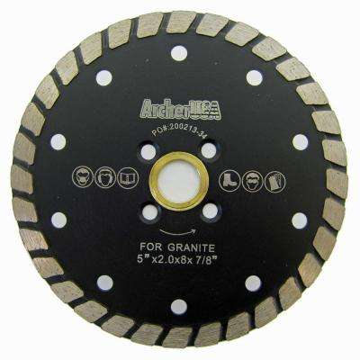 5 in. Wide Turbo Diamond Blade for Stone and Masonry Cutting