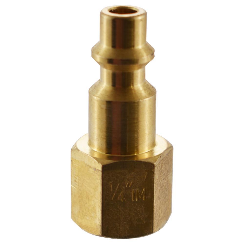 1/4 in. NPT IM Brass Female Plug