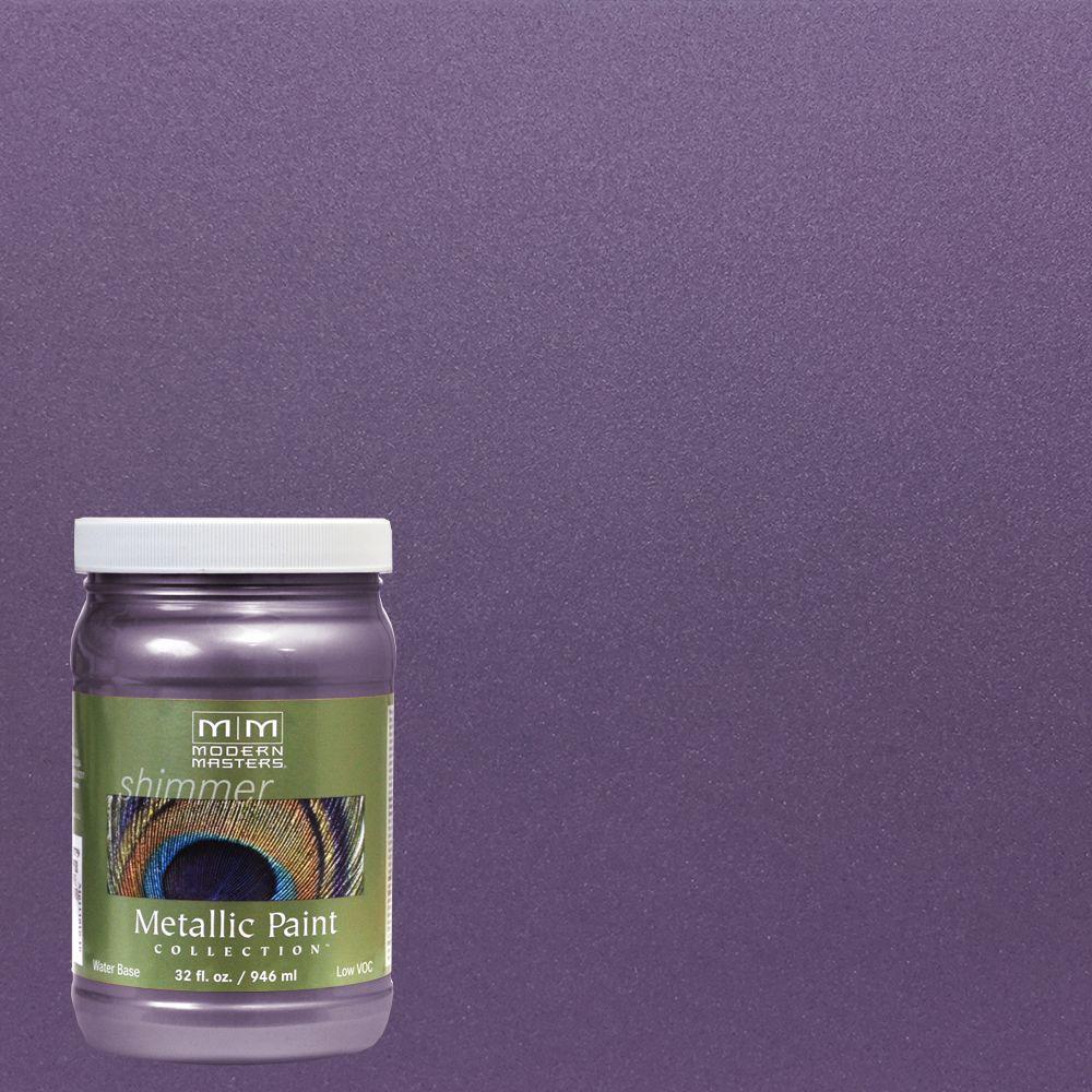 1 qt. Lilac Water-Based Satin Metallic Interior/Exterior Paint