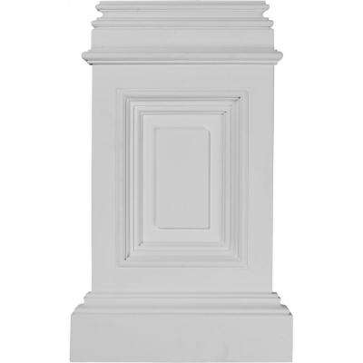 10-7/8 in. x 2-1/4 in. x 17-3/4 in. Polyurethane Classic Small Pedestal Base