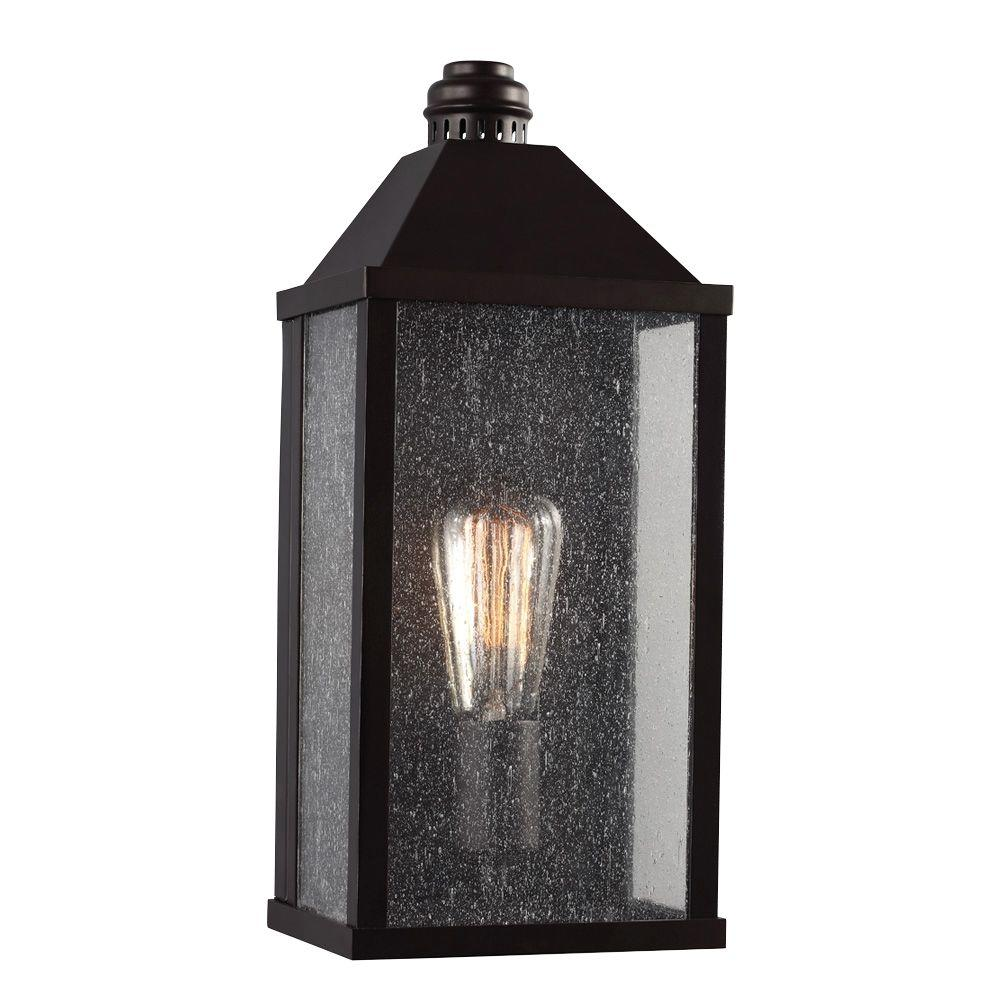 Feiss Lumiere Collection 1 Light Oil Rubbed Bronze Outdoor Sconce