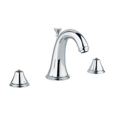 Geneva 8 in. Widespread 2-Handle 1.2 GPM Bathroom Faucet in StarLight Chrome